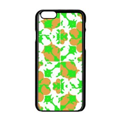 Graphic Floral Seamless Pattern Mosaic Apple Iphone 6/6s Black Enamel Case by dflcprints