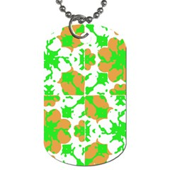 Graphic Floral Seamless Pattern Mosaic Dog Tag (one Side) by dflcprints