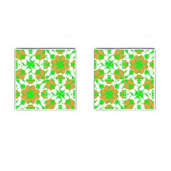 Graphic Floral Seamless Pattern Mosaic Cufflinks (square) by dflcprints