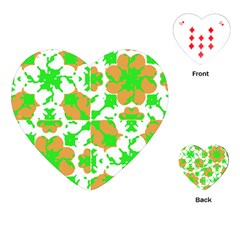 Graphic Floral Seamless Pattern Mosaic Playing Cards (heart)  by dflcprints