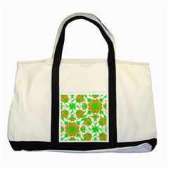 Graphic Floral Seamless Pattern Mosaic Two Tone Tote Bag by dflcprints