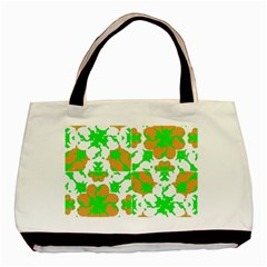 Graphic Floral Seamless Pattern Mosaic Basic Tote Bag (two Sides) by dflcprints