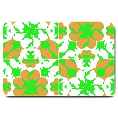 Graphic Floral Seamless Pattern Mosaic Large Doormat  by dflcprints