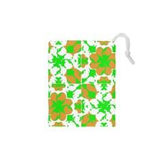 Graphic Floral Seamless Pattern Mosaic Drawstring Pouches (xs)  by dflcprints
