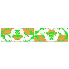 Graphic Floral Seamless Pattern Mosaic Flano Scarf (small) by dflcprintsclothing