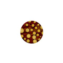 Wood And Gold 1  Mini Buttons by linceazul