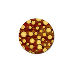Wood And Gold Golf Ball Marker by linceazul