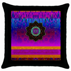 Air And Stars Global With Some Guitars Pop Art Throw Pillow Case (black) by pepitasart
