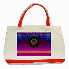 Air And Stars Global With Some Guitars Pop Art Classic Tote Bag (red) by pepitasart