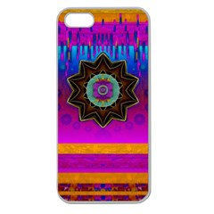 Air And Stars Global With Some Guitars Pop Art Apple Seamless Iphone 5 Case (clear) by pepitasart