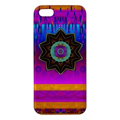Air And Stars Global With Some Guitars Pop Art Apple Iphone 5 Premium Hardshell Case by pepitasart