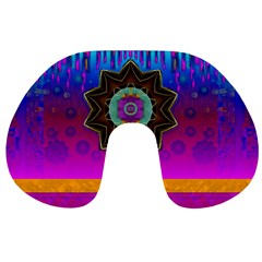 Air And Stars Global With Some Guitars Pop Art Travel Neck Pillows by pepitasart