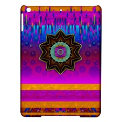 Air And Stars Global With Some Guitars Pop Art Ipad Air Hardshell Cases by pepitasart
