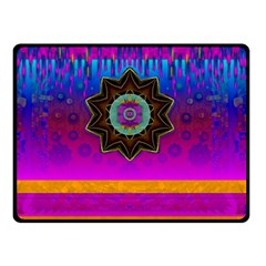 Air And Stars Global With Some Guitars Pop Art Double Sided Fleece Blanket (small)  by pepitasart