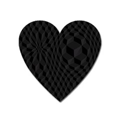Black Pattern Dark Texture Background Heart Magnet by Nexatart