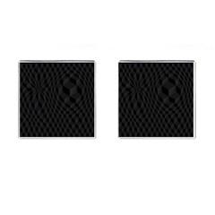Black Pattern Dark Texture Background Cufflinks (Square)