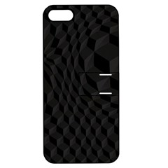 Black Pattern Dark Texture Background Apple Iphone 5 Hardshell Case With Stand by Nexatart