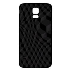 Black Pattern Dark Texture Background Samsung Galaxy S5 Back Case (white) by Nexatart