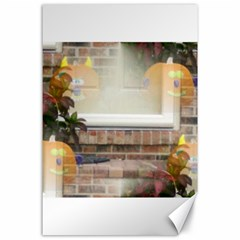 Ghostly Floating Pumpkins Canvas 24  X 36  by canvasngiftshop