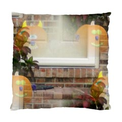 Ghostly Floating Pumpkins Standard Cushion Case (two Sides) by canvasngiftshop