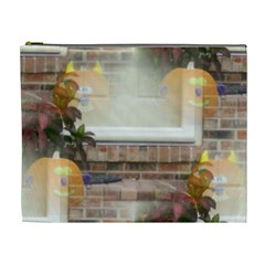 Ghostly Floating Pumpkins Cosmetic Bag (xl) by canvasngiftshop