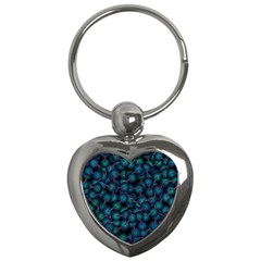 Background Abstract Textile Design Key Chains (heart)  by Nexatart