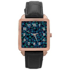 Background Abstract Textile Design Rose Gold Leather Watch  by Nexatart