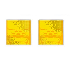 Texture Yellow Abstract Background Cufflinks (square) by Nexatart