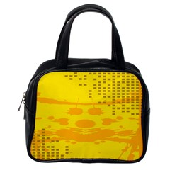 Texture Yellow Abstract Background Classic Handbags (one Side) by Nexatart