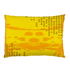 Texture Yellow Abstract Background Pillow Case (two Sides) by Nexatart