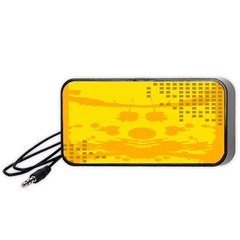 Texture Yellow Abstract Background Portable Speaker (black) by Nexatart