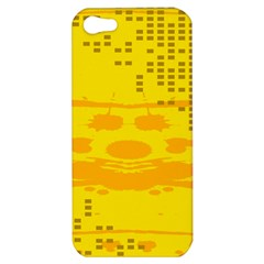 Texture Yellow Abstract Background Apple Iphone 5 Hardshell Case by Nexatart