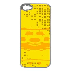 Texture Yellow Abstract Background Apple Iphone 5 Case (silver)