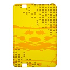 Texture Yellow Abstract Background Kindle Fire Hd 8 9  by Nexatart