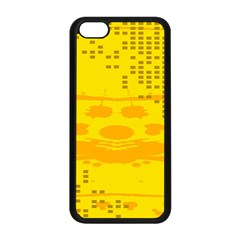 Texture Yellow Abstract Background Apple Iphone 5c Seamless Case (black) by Nexatart