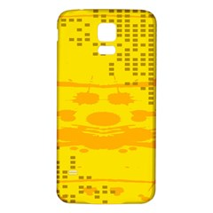Texture Yellow Abstract Background Samsung Galaxy S5 Back Case (white) by Nexatart