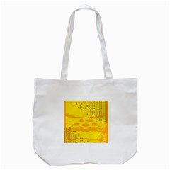 Texture Yellow Abstract Background Tote Bag (white) by Nexatart