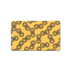 Abstract Shapes Links Design Magnet (name Card) by Nexatart