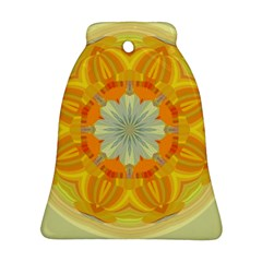 Sunshine Sunny Sun Abstract Yellow Bell Ornament (two Sides) by Nexatart