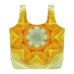 Sunshine Sunny Sun Abstract Yellow Full Print Recycle Bags (l)  by Nexatart