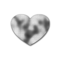 Puzzle Grey Puzzle Piece Drawing Rubber Coaster (heart)  by Nexatart