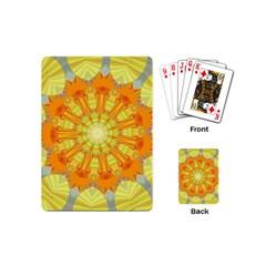 Sunshine Sunny Sun Abstract Yellow Playing Cards (mini)  by Nexatart