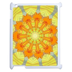Sunshine Sunny Sun Abstract Yellow Apple Ipad 2 Case (white) by Nexatart