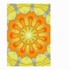 Sunshine Sunny Sun Abstract Yellow Small Garden Flag (two Sides) by Nexatart