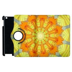 Sunshine Sunny Sun Abstract Yellow Apple Ipad 3/4 Flip 360 Case by Nexatart