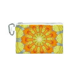 Sunshine Sunny Sun Abstract Yellow Canvas Cosmetic Bag (s) by Nexatart