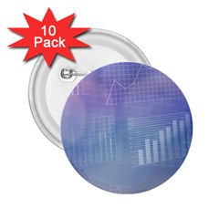 Business Background Blue Corporate 2 25  Buttons (10 Pack)  by Nexatart