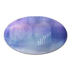 Business Background Blue Corporate Oval Magnet by Nexatart