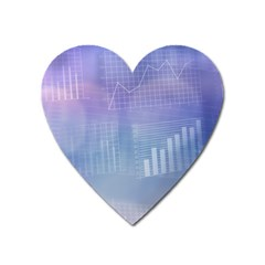 Business Background Blue Corporate Heart Magnet by Nexatart