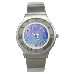 Business Background Blue Corporate Stainless Steel Watch by Nexatart